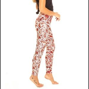 There's Candy Cane print leggings L